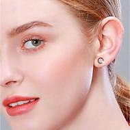 저렴한 -여성용 스터드 귀걸이 S925 스털링 실버 귀걸이 단순한 단 보석류 로즈 골드 제품 생일 선물 일상 애인 1 쌍