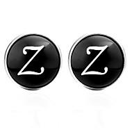 Χαμηλού Κόστους -Γράμμα Μαύρο / Ασημί / Καφέ Butoni Glass / Χαλκός Alphabet Shape Βασικό / Ευρωπαϊκό Γιούνισεξ Κοστούμια Κοσμήματα Για Καθημερινά / Φεστιβάλ