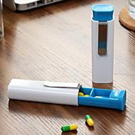 ราคาถูก -Travel Medicine Box / Case Portable / ทนทาน ABS 9.6*2.6*2.2 cm ซม.