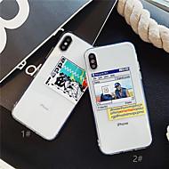 halpa -Etui Käyttötarkoitus Apple iPhone XR / iPhone XS Max Läpinäkyvä / Kuvio Takakuori Läpinäkyvä Pehmeä TPU varten iPhone XS / iPhone XR / iPhone XS Max