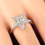 זול -בגדי ריקוד נשים טבעת פרח מסוגנן Fashion Ring תכשיטים כסף עבור יומי