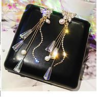 levne -Dámské Visací náušnice Napodobenina perel Umělé diamanty Náušnice Motýl stylové Šperky Zlatá Pro Denní 1 Pair