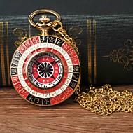 Χαμηλού Κόστους -Ανδρικά Ρολόι Τσέπης Χαλαζίας Χρυσό Καθημερινό Ρολόι Μεγάλο καντράν Αναλογικό Καθημερινό Μοντέρνα - Μαύρο / Κόκκινο