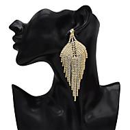 Χαμηλού Κόστους -Γυναικεία Κρεμαστά Σκουλαρίκια Προσομειωμένο διαμάντι Σκουλαρίκια Κοσμήματα Χρυσό Για Αργίες 1 Pair