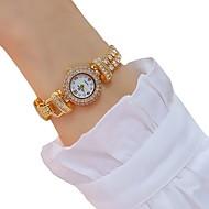 זול -בגדי ריקוד נשים שעון צמיד מדבקות עם נצנצים אלגנטית זהב סגסוגת קוורץ שוויצרי קווארץ זהב חמוד יצירתי עיצוב חדש 30 m יחידה 1 אנלוגי שנתיים חיי סוללה