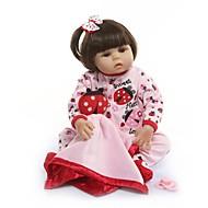 ราคาถูก -NPKCOLLECTION Reborn Dolls เด็กทารก เด็กผู้หญิง 20 inch ซิลิโคนร่างกายเต็มรูปแบบ ไวนิล - ของขวัญ ทำด้วยมือ การปลูกถ่ายประดิษฐ์ตาสีน้ำตาล เด็ก ทุกเพศ Toy ของขวัญ