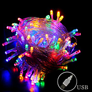 cheap -10m String Lights 80 LEDs RGB Waterproof / Creative / Party USB Powered