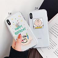 halpa -Etui Käyttötarkoitus Apple iPhone XR / iPhone XS Max Läpinäkyvä Takakuori Piirretty Pehmeä TPU varten iPhone XS / iPhone XR / iPhone XS Max