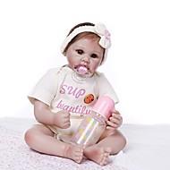 ราคาถูก -NPKCOLLECTION Reborn Dolls เด็กผู้หญิง 24 inch ไวนิล - ทารกแรกเกิด ของขวัญ การปลูกถ่ายประดิษฐ์ตาสีน้ำตาล เด็ก ทุกเพศ Toy ของขวัญ