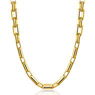 Χαμηλού Κόστους -Ανδρικά Κλασσικό Κρεμαστό Επιχρυσωμένο Μοντέρνα Απίθανο Χρυσό 50 cm Κολιέ Κοσμήματα 1pc Για Δώρο Καθημερινά