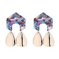 Χαμηλού Κόστους -Γυναικεία Γεωμετρική Κρεμαστά Σκουλαρίκια Κρίκοι Σκουλαρίκια Κρεμαστό Απλός Ευρωπαϊκό Μοντέρνα Κοσμήματα Λευκό / Ουράνιο Τόξο / Ροζ Για Καθημερινά Δρόμος Αργίες Δουλειά Φεστιβάλ 1 Pair