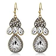 저렴한 -여성용 드랍 귀걸이 모조 다이아몬드 귀걸이 드롭 클래식 보석류 골드 제품 일상 1 쌍