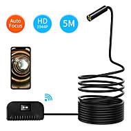Недорогие -5 м длина автофокус Wi-Fi осмотр камеры ip68 водонепроницаемый эндоскоп 5 мп cmos змея камера для iphone samsung andorid ios