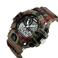 זול -SKMEI בגדי ריקוד גברים שעון דיגיטלי דיגיטלי שחור / כחול / אדום 50 m עמיד במים לוח שנה אזור זמן כפול דיגיטלי יום יומי חוץ - ירוק כחול ירוק בהיר