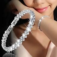 זול -בגדי ריקוד נשים קלאסי צמיד יהלום מדומה פרח מסוגנן צמידים תכשיטים כסף / זהב ורד עבור יומי