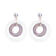 ieftine -Pentru femei Cercei Picătură Reșină Lemn Diamante Artificiale cercei Simplu European Modă Bijuterii Rosu / Verde / Roz Pentru Zilnic Muncă 1 Pair