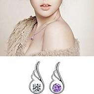 זול -בגדי ריקוד נשים זירקונה מעוקבת תליונים סגול שקוף שרשראות תכשיטים 1pc עבור יומי