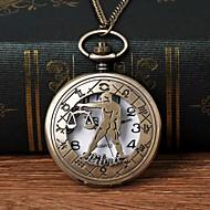 Χαμηλού Κόστους -Ανδρικά Ρολόι Τσέπης Χαλαζίας Μπρονζέ Εσωτερικού Μηχανισμού Καθημερινό Ρολόι Μεγάλο καντράν Αναλογικό Μοντέρνα Σκελετός - Μπρονζέ