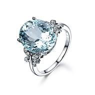 Dámské Kubický zirkon Prsten Sladký Fashion Ring Šperky Světle modrá Pro Dar Denní