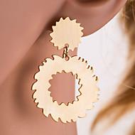 Χαμηλού Κόστους -Γυναικεία Ασημί Χρυσό Γεωμετρική Κρεμαστά Σκουλαρίκια Σκουλαρίκια Gear Ευρωπαϊκό Κοσμήματα Χρυσό / Ασημί Για Καθημερινά 1 Pair