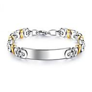preiswerte -Herrn Geometrisch Armband Titanstahl Glücklich Stilvoll Armbänder Schmuck Silber Für Geschenk Alltag