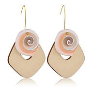 Χαμηλού Κόστους -Γυναικεία Κουμπωτά Σκουλαρίκια Κρεμαστά Σκουλαρίκια Ξύλο Όστρακο Σκουλαρίκια Φύση Τροπικό Κοσμήματα Χρυσό Για Γάμου Πάρτι Καθημερινά Δρόμος Δουλειά 1 Pair