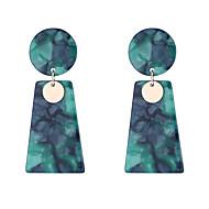 Χαμηλού Κόστους -Γυναικεία Γεωμετρική Κρεμαστά Σκουλαρίκια θαυμαστής σκουλαρίκια Σκουλαρίκια Κλασσικό Βίντατζ Ευρωπαϊκό Κοσμήματα Λευκό / Μαύρο / Πράσινο Για Απόκριες Αργίες Δουλειά Φεστιβάλ 1 Pair