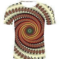 billige -T-skjorte Herre - Stripet / 3D / Grafisk, Trykt mønster Rock / overdrevet Hvit XXL