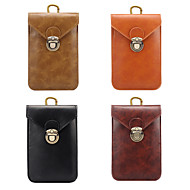 billige -Etui Til Blackberry / Apple / Samsung Galaxy Universell Kortholder Magetasker Ensfarget Myk PU Leather til Universell