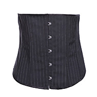 cheap -Women's Hook & Eye Underbust Corset - Solid Colored / Sexy