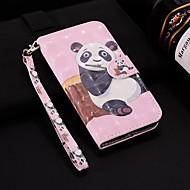 tanie -case dla apple iphone xr / iphone xs max wzór / flip / z podstawą pełne etui na lasery 3d panda hard pu skóra dla iphone 6/6 plus / 6s / 6s plus / 7/7 plus / 8/8 plus / xs / x