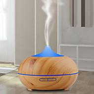 abordables -1pc 7 colores led luz de noche humidificador de grano de madera hogar creativo purificador de aire humidificador luz de noche aceite esencial máquina de aromaterapia purificador de aire ultrasónico