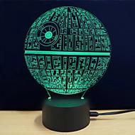 billige -1set Dekorations Lys / LED Night Light / 3D natlys RGB / Ændring Usb Farveskiftende / Kreativ / bedside 5 V