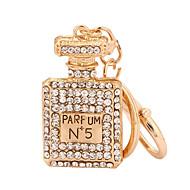 זול -בקבוק שרשרת מפתחות זהב ורד Geometric Shape סגסוגת אופנתי עבור קזו'אל יומי מחזיק מפתחות