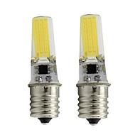 billige -2pcs 3 W LED-stearinlyspærer 450 lm E17 T 1 LED Perler COB Dæmpbar Varm hvid Hvid 110/220 V