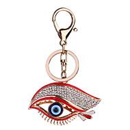 זול -עיניים שרשרת מפתחות אדום עין הרע סגסוגת אופנתי עבור קזו'אל יומי עבודת יד