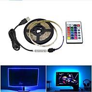 abordables -1set usb llevó la lámpara de tira 2835smd dc5v cinta de cinta de luz led flexible 1m hdtv tv escritorio pantalla de fondo sesgo iluminación