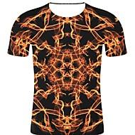 billige -T-skjorte Herre - 3D / Regnbue / Grafisk, Trykt mønster Rock / overdrevet Svart XXL