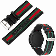 billige -Klokkerem til LG G Watch W100 / LG G Watch R W110 / LG Watch Urbane W150 LG Sportsrem Nylon / Ekte lær Håndleddsrem