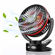 cheap -Mimi Clip Fan with Night Light, USB Desk Fan with 360° Manual Rotate fan