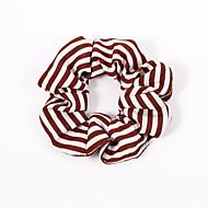 levne -dámské roztomilé elegantní vinobraní tkaniny pruhované
