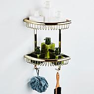 رخيصةأون -رف الحمام متعدد الطبقات / تصميم جديد أنتيك / زهري نحاس 1PC - حمام / حمام الفندق مزدوج مثبت على الحائط