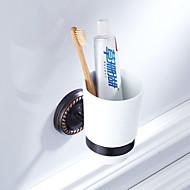 economico -Porta spazzolini Nuovo design Antico Ottone / Ceramica 1pc - Bagno dell'hotel Montaggio su parete