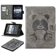 billige -Etui Til Amazon Kindle PaperWhite 4 Kortholder Fuldt etui Ensfarvet / Panda Blødt PU Læder for Kindle PaperWhite 4