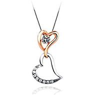 levne -Dámské Kubický zirkon Náhrdelníky s přívěšky Klasika Blahoslavený Módní Pozlacené Zlatá 45+6 cm Náhrdelníky Šperky 1ks Pro Dar Denní