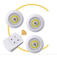 economico -3 pezzi Night Light LED Bianco Batterie AAA alimentate Controllato da remoto / Oscurabile / Nuovo design 5 V