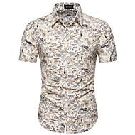 povoljno -Veći konfekcijski brojevi Majica Muškarci - Osnovni Ležerno / za svaki dan / Athleisure Cvjetni print Obala / Kratkih rukava