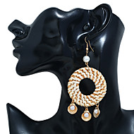 abordables -Boucles d'Oreille Femme Imitation de perle Bagues Tendance Bijoux Dorée pour Soirée Quotidien Plein Air Vacances Festival 1 paire