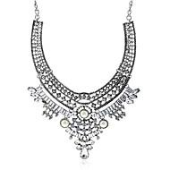 levne -Dámské Kubický zirkon Náhrdelníky s přívěšky Geometrické Blahoslavený Módní Chrome Umělé diamanty Stříbrná 40 cm Náhrdelníky Šperky 1ks Pro Dar Denní