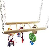 abordables -Pájaro Perchas y Escaleras Madera / Metal Amigable con las Mascotas / Juguete del foco / Juguetes de felpa y tela 8*22 cm